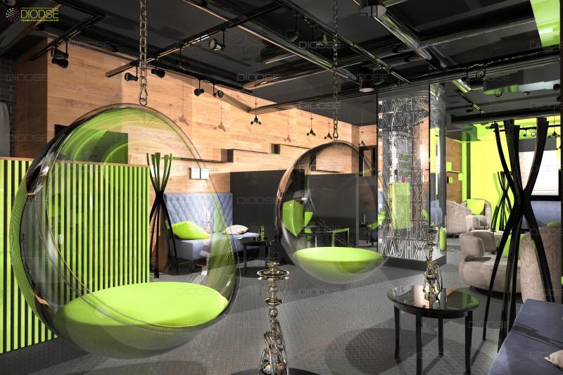 Дизайн проект кальянной г.Москва