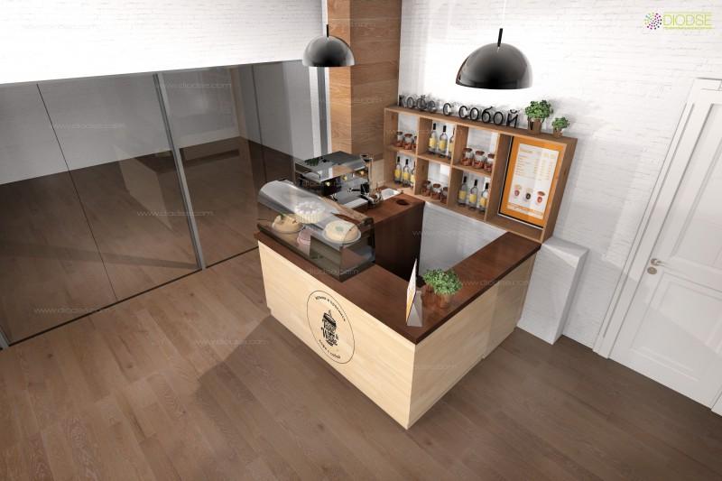 Дизайн проект мини кофейни г.Москва