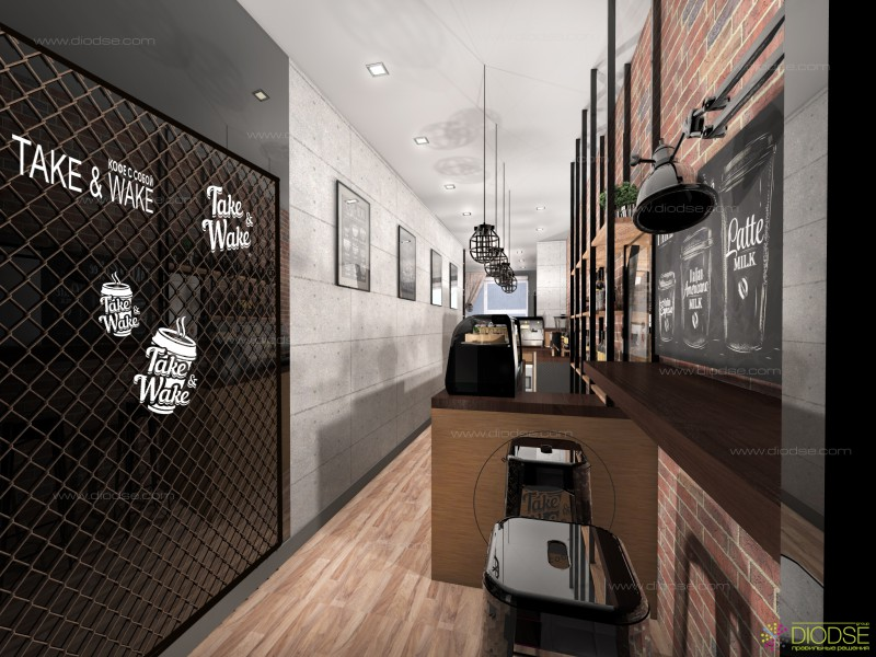 Дизайн проект мини кофейни г. Москва метро Автозаводская