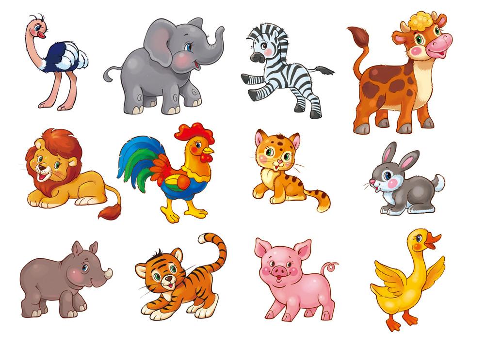 Картинки зверюшек для малышей