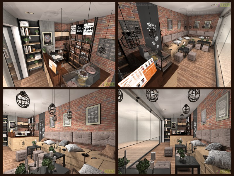 Дизайн проект мини кофейни г. Москва