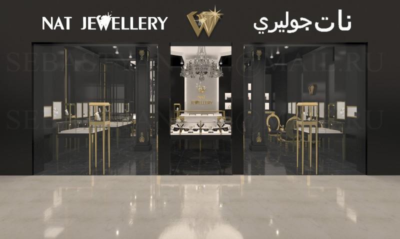 Дубай (ОАЭ) ювелирный бутик премиум класса (вид снаружи)