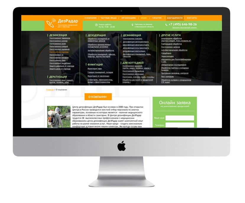 Дизайн сайта ДезРадар