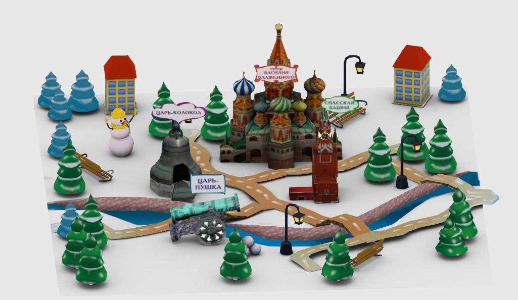Интерактивная карта москвы для приложения дополненной реальности