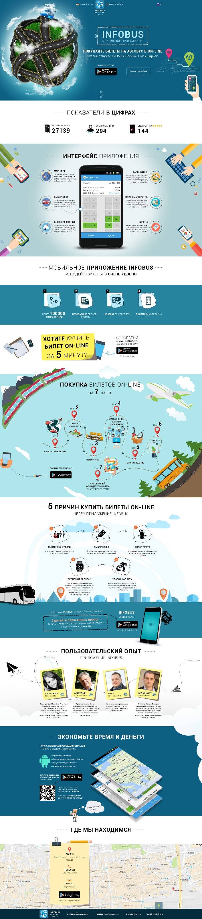 Landing Page для раскрутки мобильного приложения Android