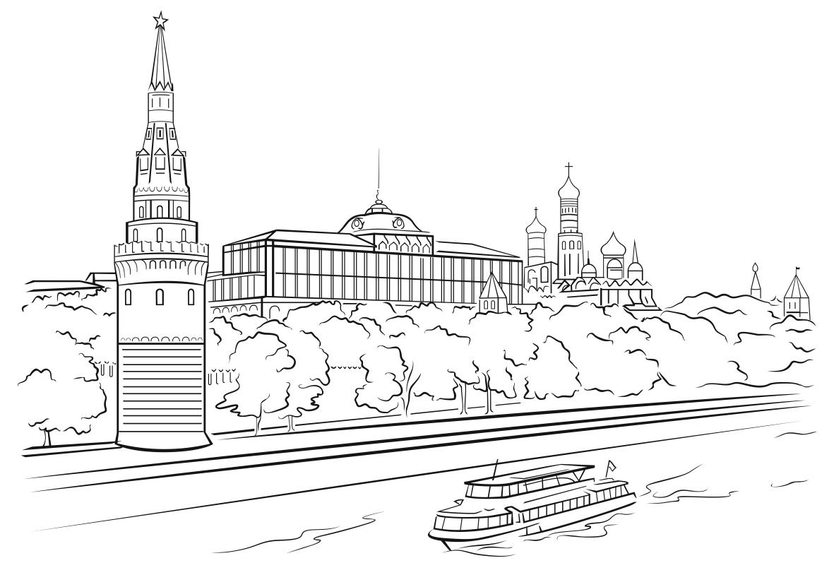селе рисунок в москве реке россии много мест