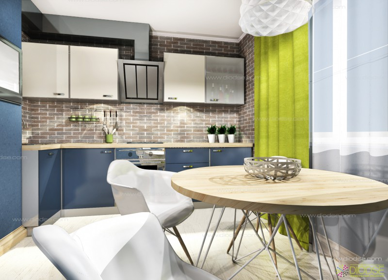 Дизайн проект кухни в скандинавском стиле