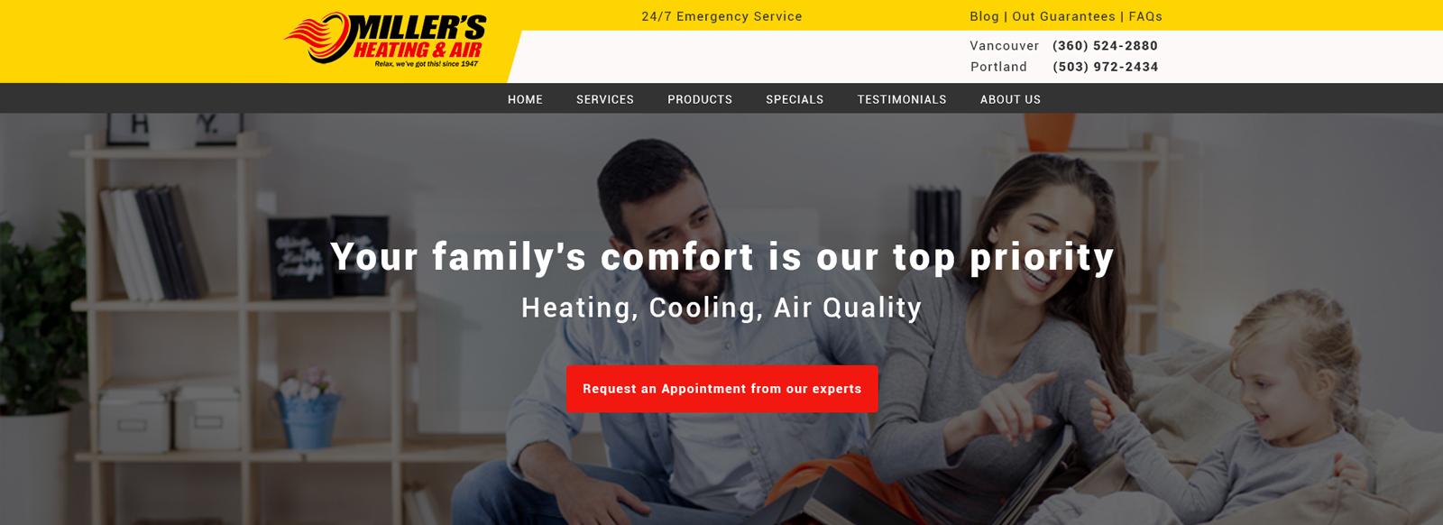 Сайт для обслуживания кондиционеров и оттопления
