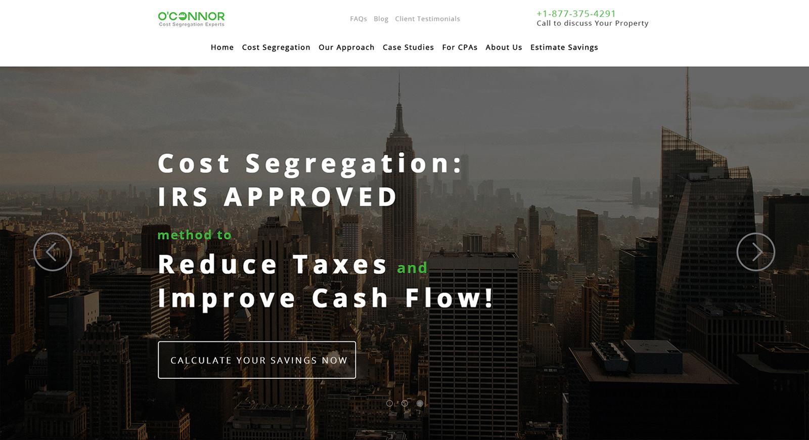 Landing Page по предоставлению услуг по недвижимость