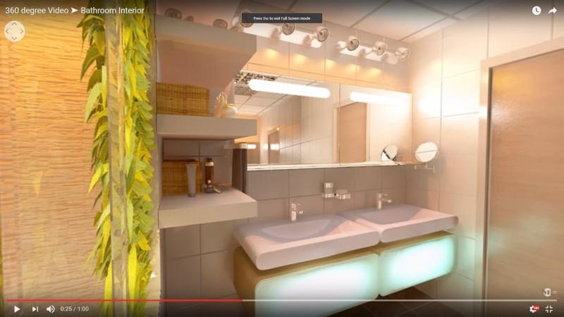 360 degree Video ➤ Bathroom Interior