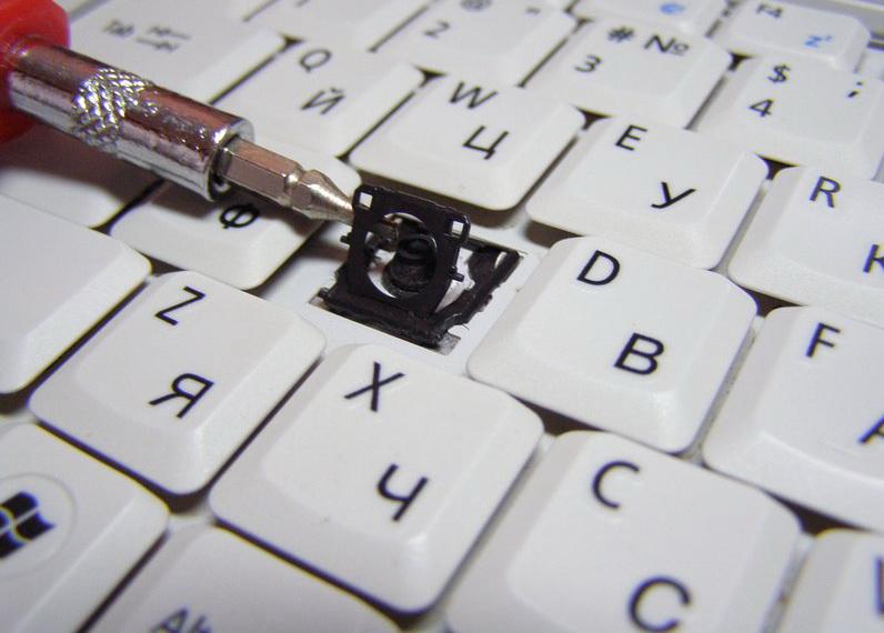 Замена клавиш на ноутбуке