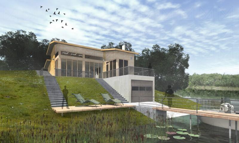 дом у залива