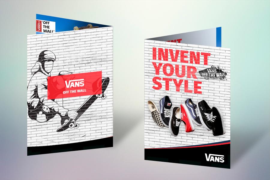 Дизайн гарантийного талона Vans