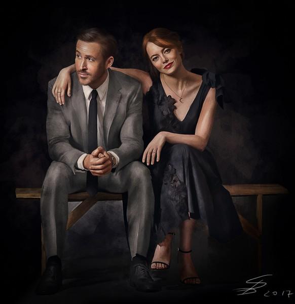 Ryan Gosling and Emma Stone. LaLaLand