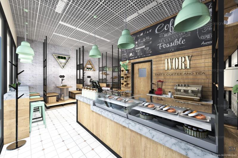 Дизайн проект кафе-пекарни г.Москва