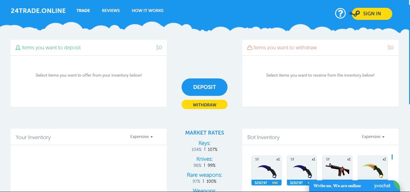 CSGO Trading System v2 [PHP + NodeJS]