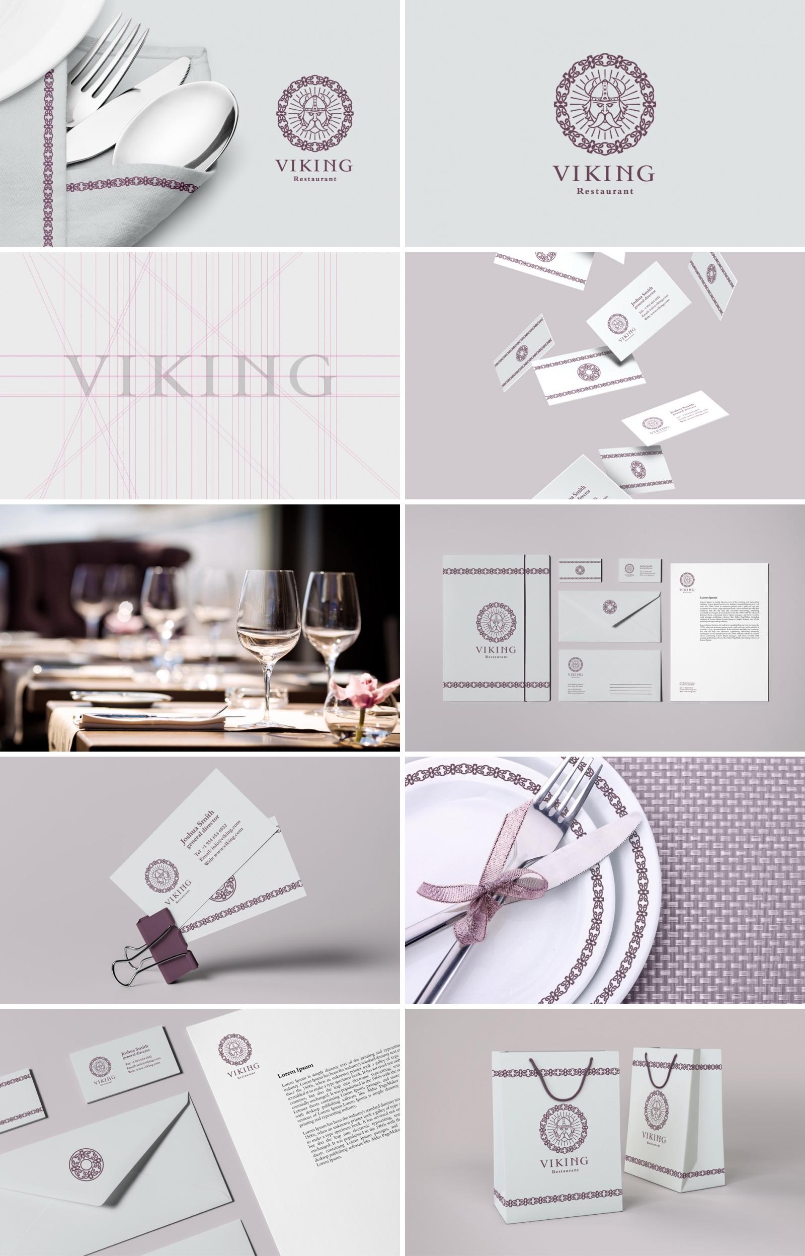 Фирменный стиль для ресторана «Viking»