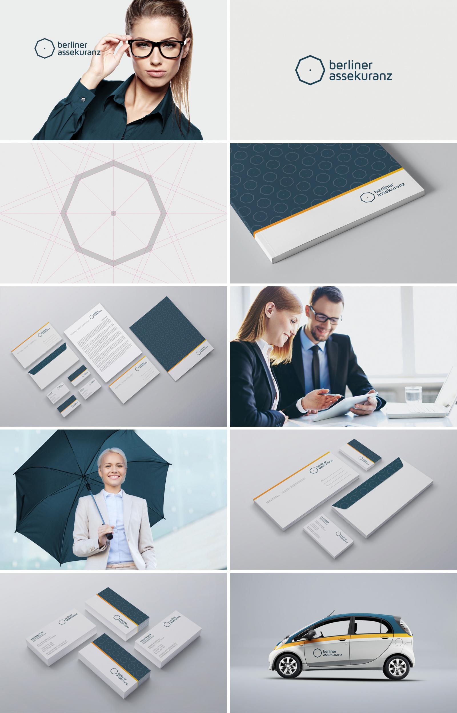 Фирменный стиль для страховой компании «Berliner Assekuranz»