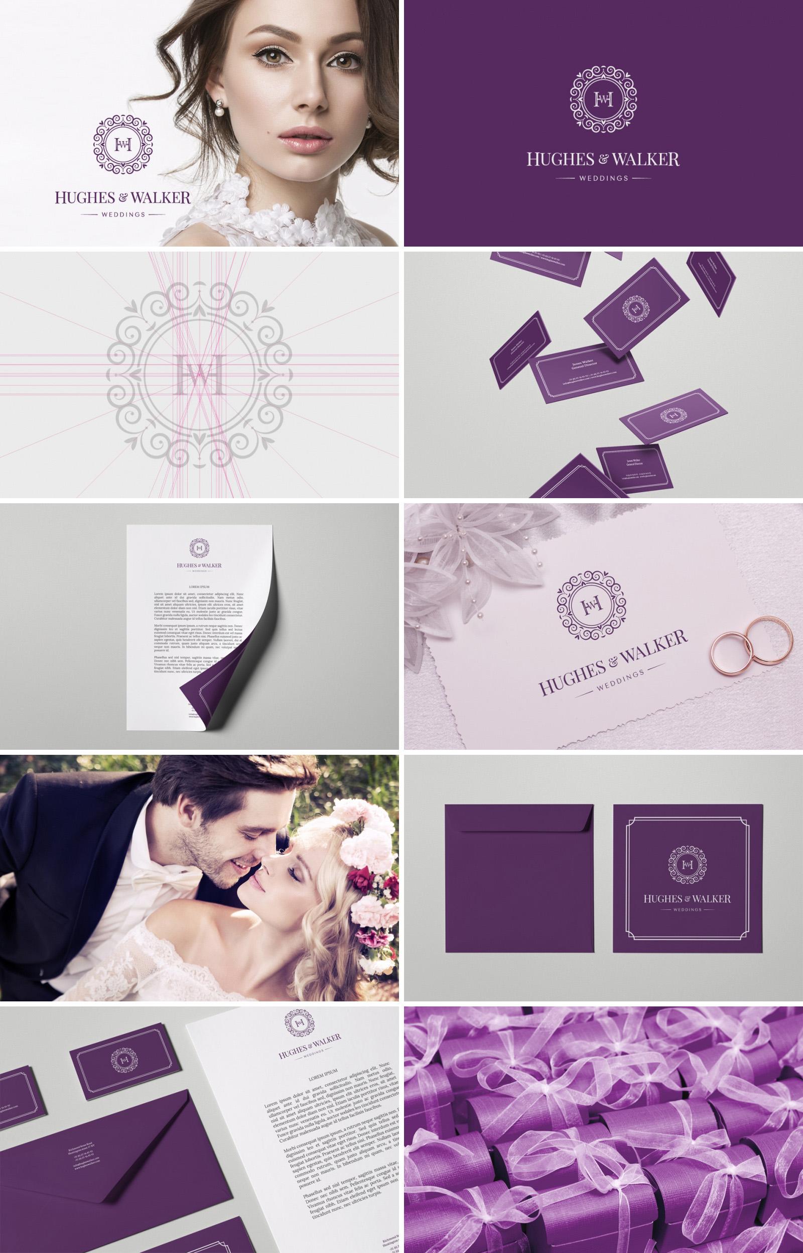 Фирменный стиль для свадебного агенства «Hughes & Walker»