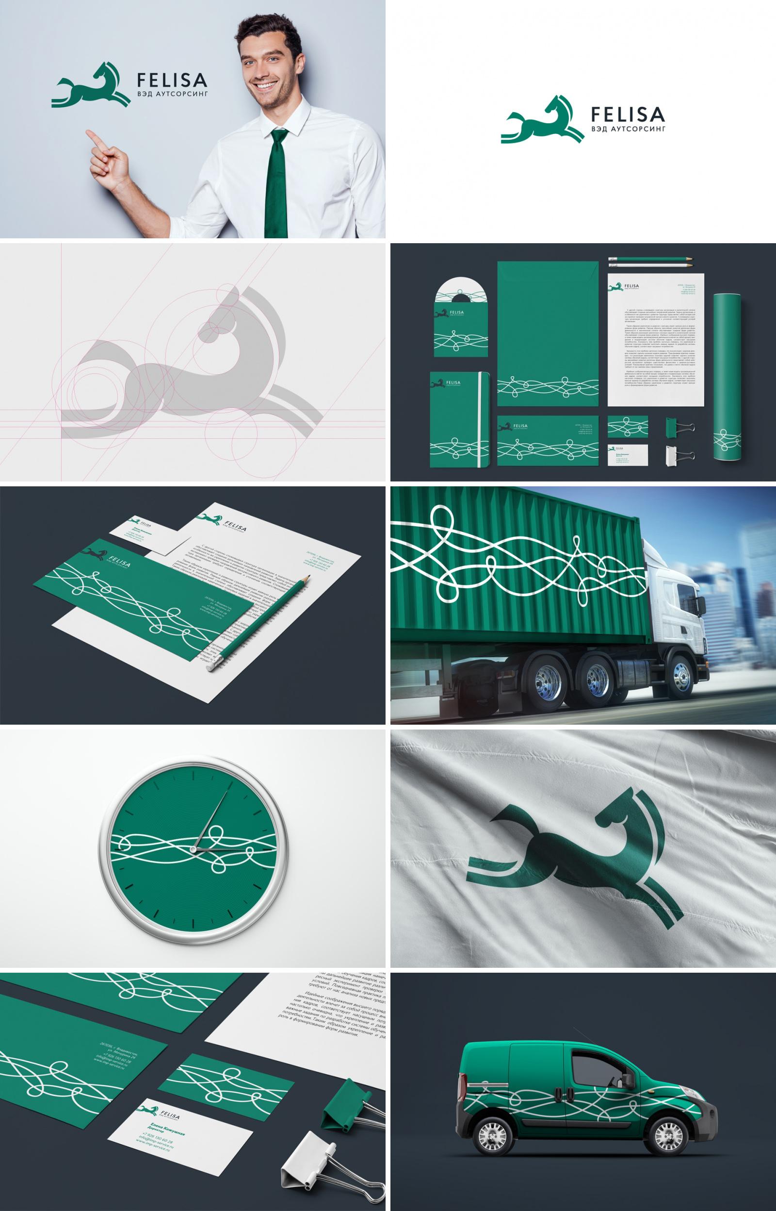 Фирменный стиль для таможенно-логистической компании «Felisa»