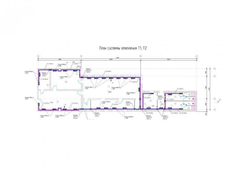 План отопления производственного помещения