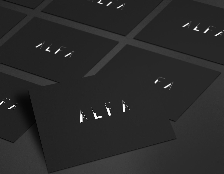 """Логотип для студии дизайна и архитектуры """"Alfa"""""""