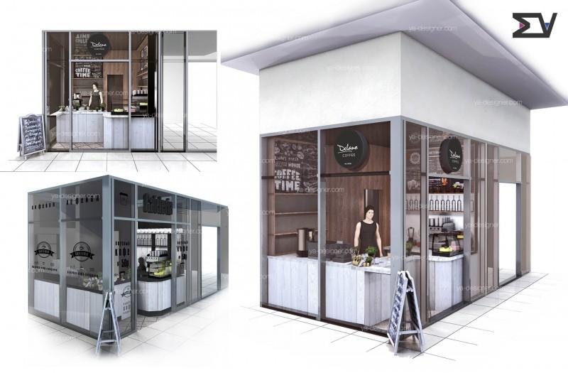 Дизайн проект павильона для кофе с собой г.Воронеж