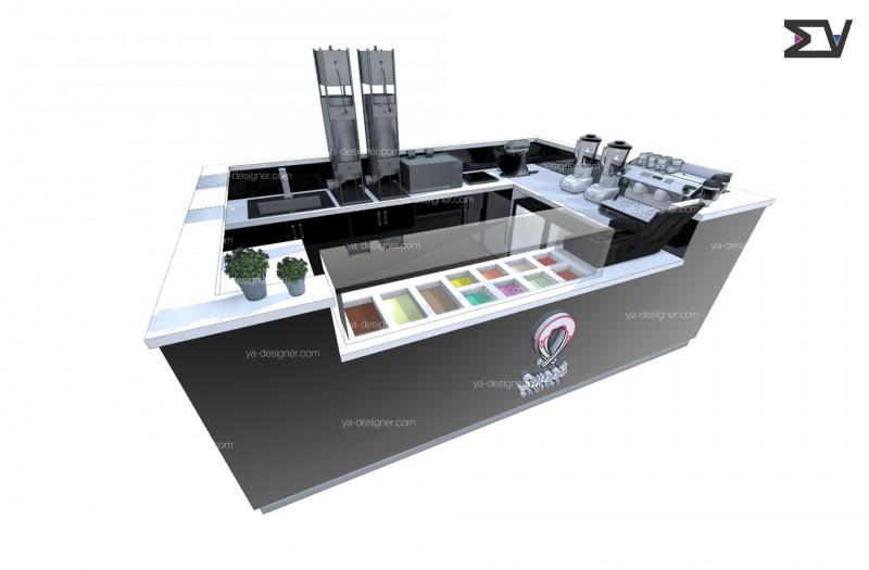 Дизайн проект острова для чуррос пончиков г.Москва