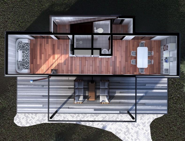 Модульные дома. Виды сверху