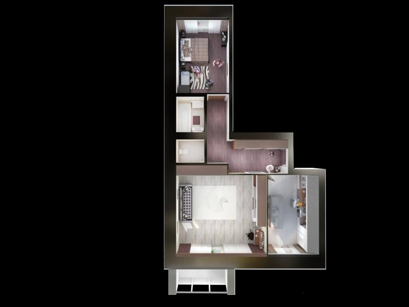 Планировка квартир. Вид сверху