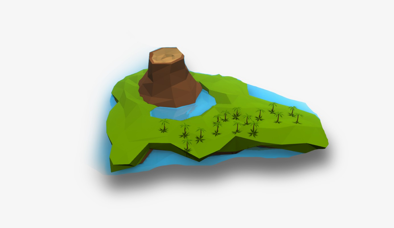 Тестовое задание: низкополигональный остров