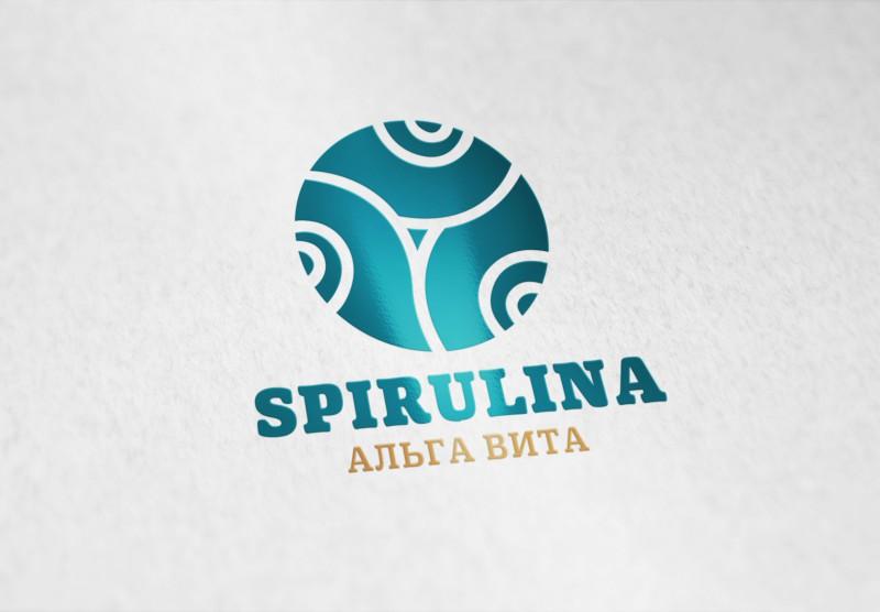 """Логотип бренда """"Спирулина"""". Полезные добавки к еде"""