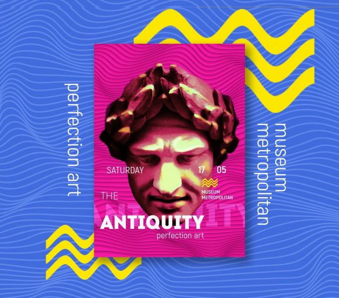Плакат для выставки античного искусства
