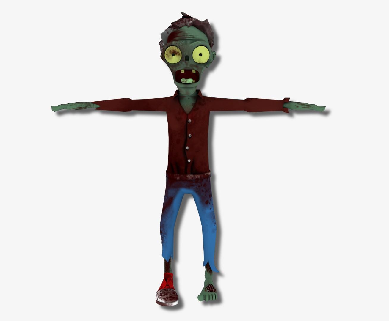 3D персонаж ЗОМБИ