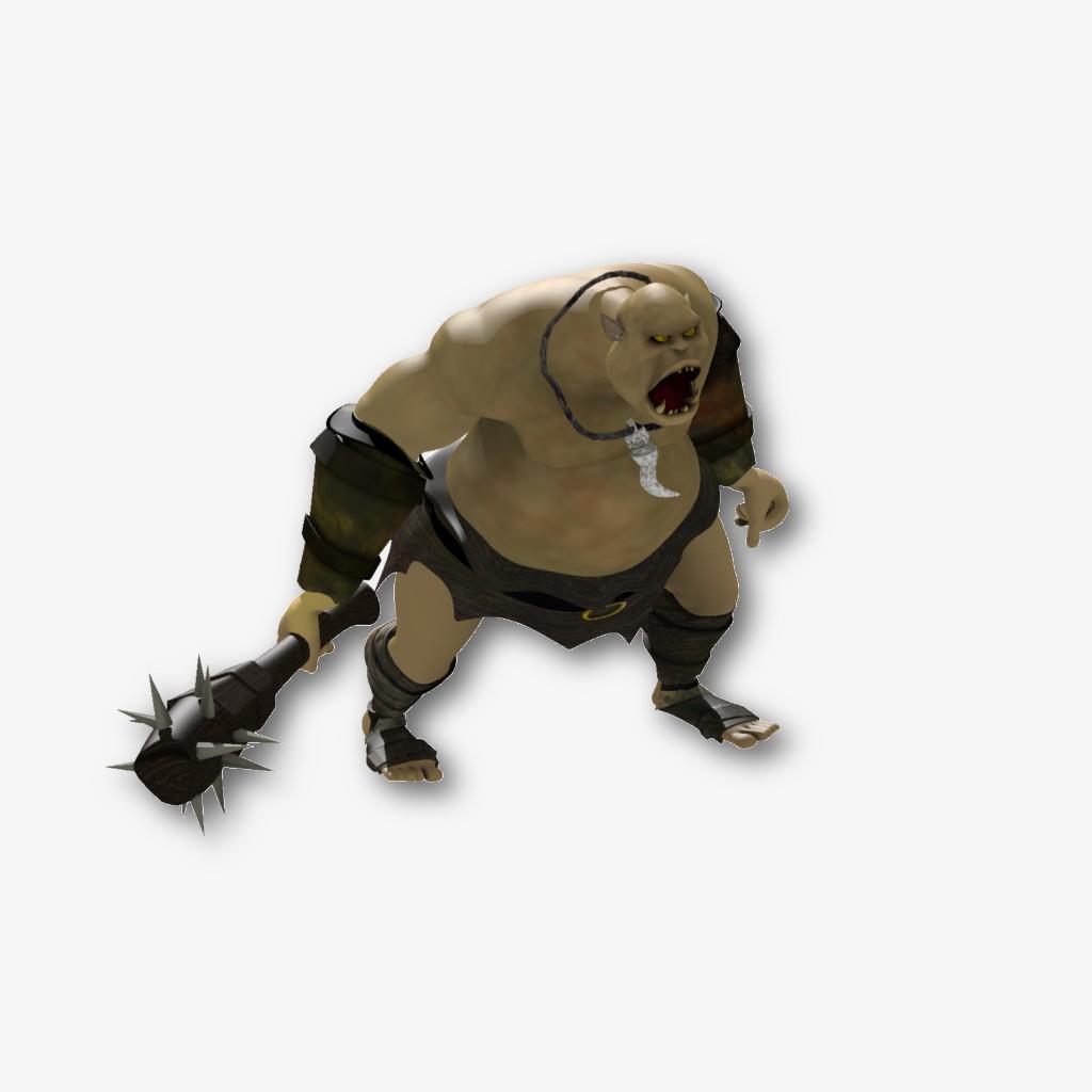 3Д персонаж для игры - ОГР