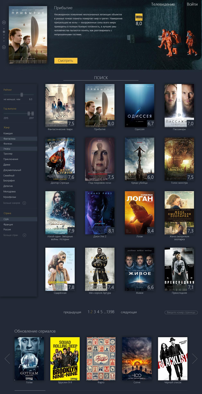 2017 г. - Онлайн tv и кинотеатр