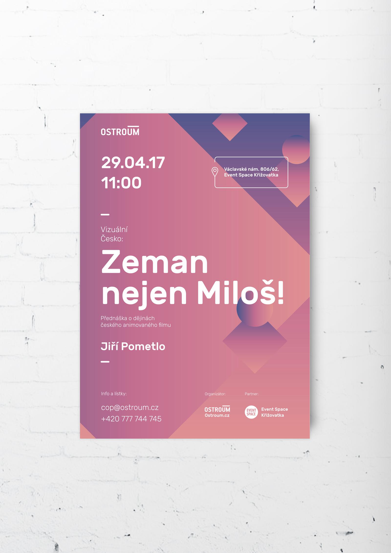 """постер """"Земан - не только Милош!"""""""