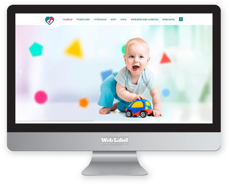 Дизайн сайта Surmother.ru