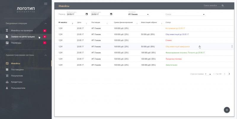 Разработка UI/UX интерфейса в стиле Google Material Angular