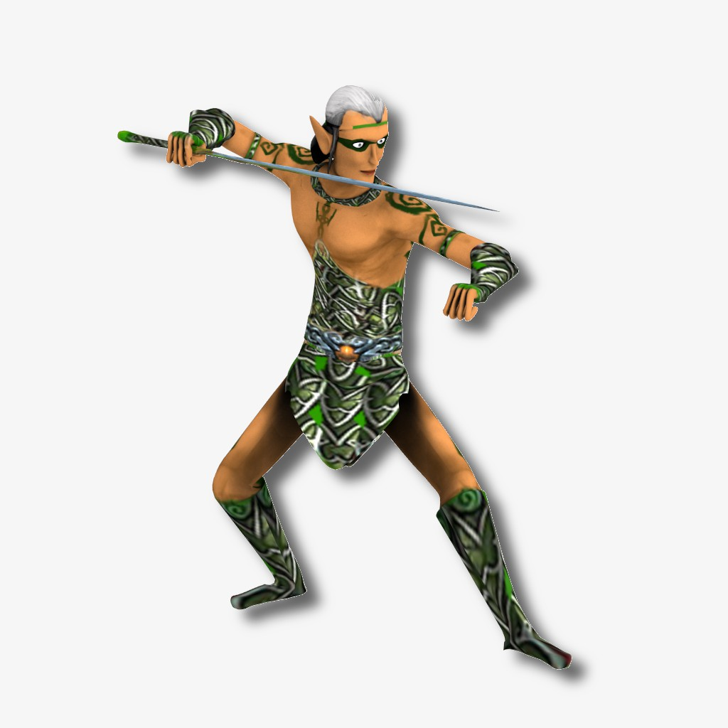 3Д персонаж для игры - ЭЛЬФ