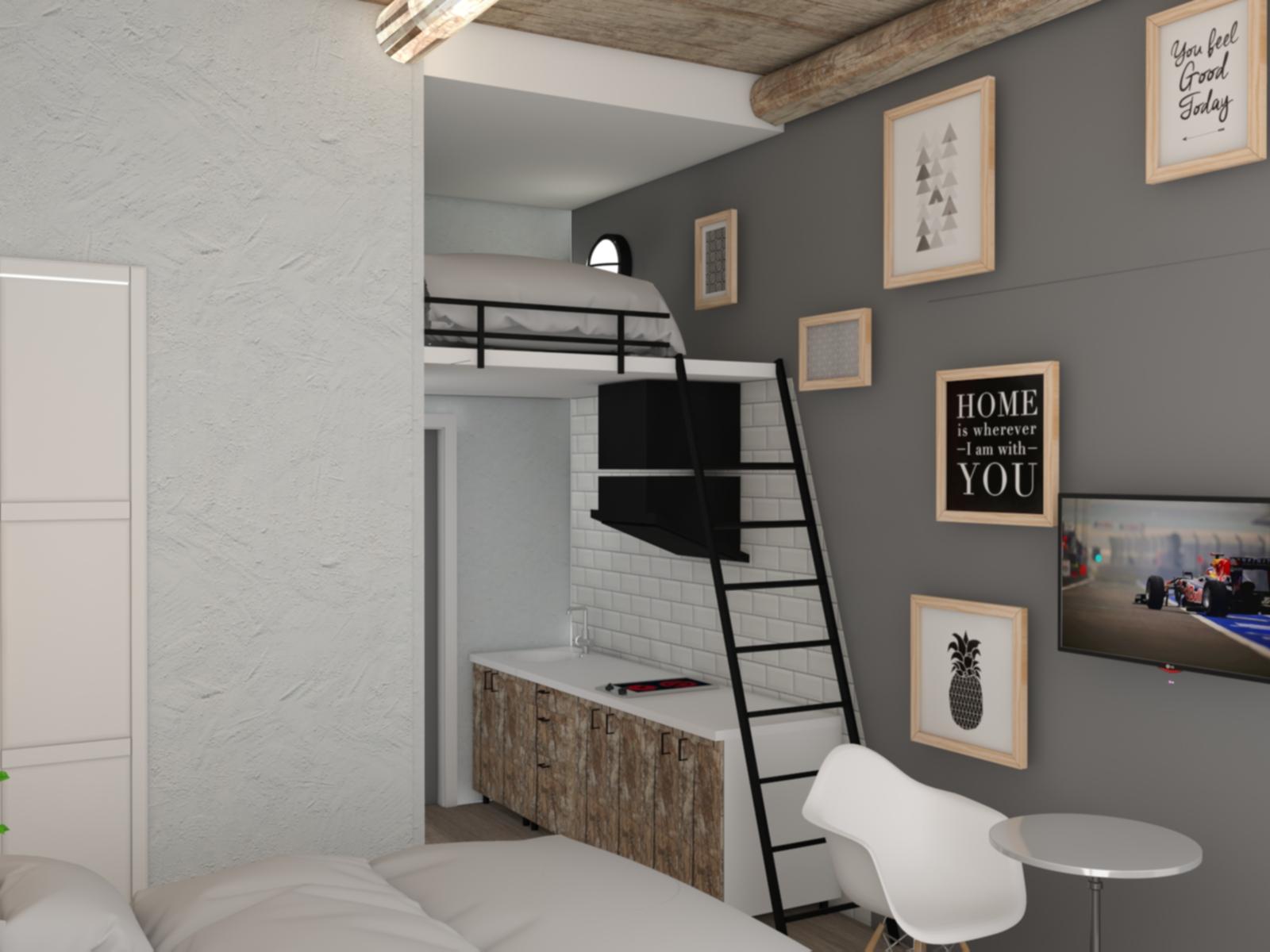 Отель в Лофт стиле