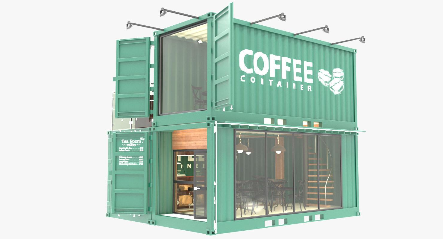 Сборное кафе из грузовых контейнеров