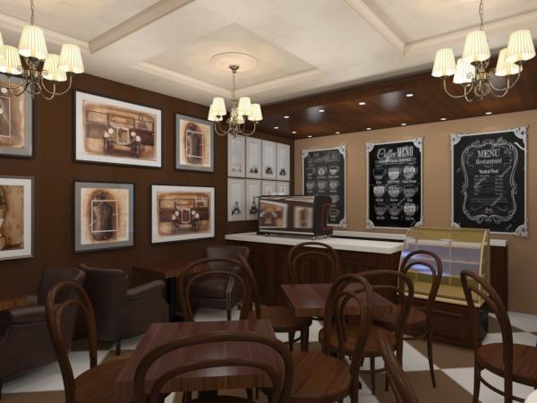 Кафейня в стиле шоколадницы
