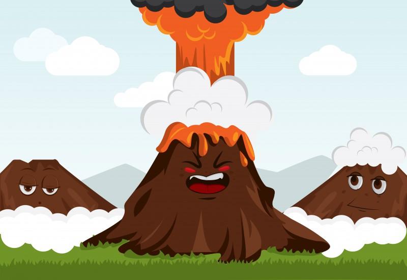 Открытки, вулкан смешные картинки