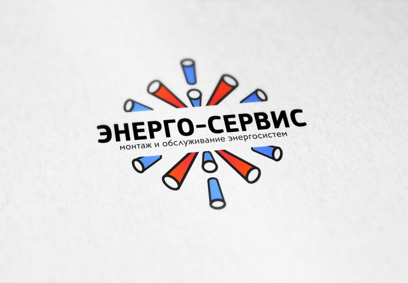 Логотип компании Энерго-сервис, вариант