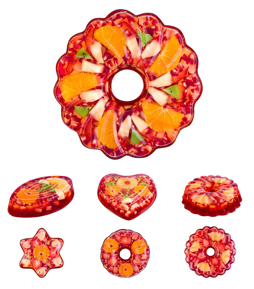 Fruit-jello: съемка желейных тортов