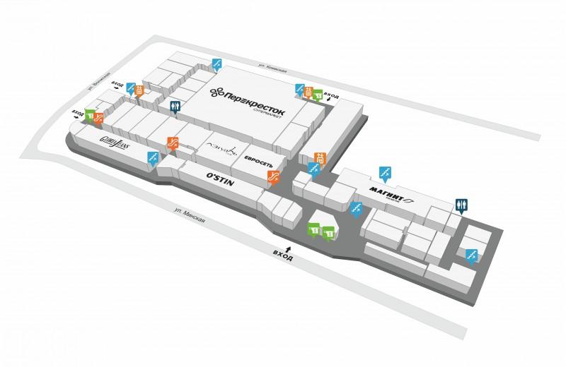 Схема ТЦ «Оранж» в Балаково