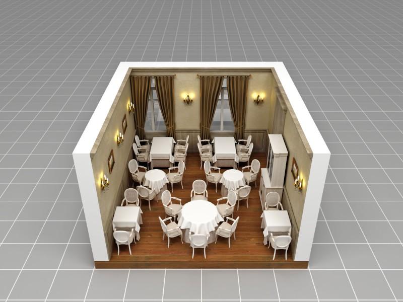 Отрисовка зала ресторана «Белла Виста» для системы бронирования