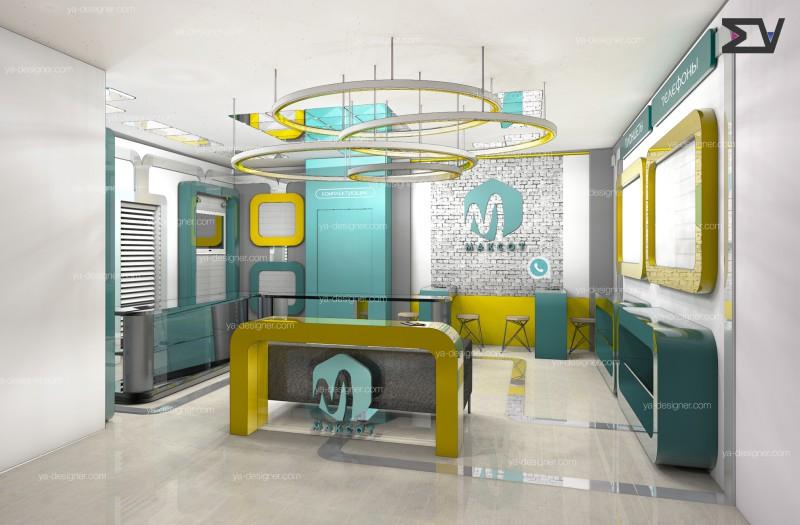 Дизайн концепция магазина по продаже телефонов и аксессуаров
