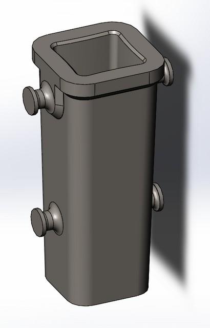 3д модель изложницы для литья металлов